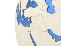 Lebanon on 3D globe Stock Images