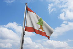 Lebanon Flag with Clouds Royalty Free Stock Image