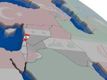 Lebanon with flag Royalty Free Stock Photo