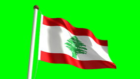 Lebanon flag stock video