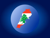 Lebanon globe Stock Photos
