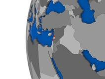 Lebanon on globe Royalty Free Stock Images