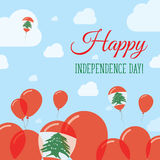 Lebanon Independence Day Flat Patriotic Design. Stock Photography