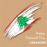 Lebanon Independence Day Patriotic Design. Royalty Free Stock Photo