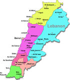 Lebanon map Royalty Free Stock Photo