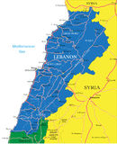 Lebanon map Royalty Free Stock Photography