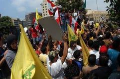 lebanon protest royaltyfri bild