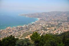 Lebanon sea coast. From the top of Harissa church at jounieh Beirut Lebanon Stock Photo