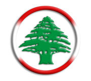 Lebanon shield for olympics Royalty Free Stock Photography