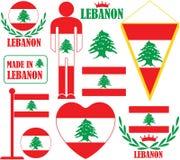 Lebanon. Vector illustration (EPS 10 Royalty Free Stock Photos