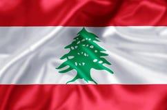 Lebanon flag illustration stock illustration