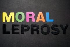 Lebbra morale fotografie stock libere da diritti