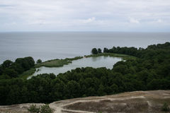 Lebed` lake at the Curonian Spit. View of Lebed` lake at the Curonian Spit Royalty Free Stock Photo