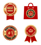 Business labels and badges. Best choice labels -  web design element Royalty Free Stock Photo