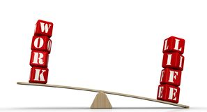 Leben, aber nicht Arbeit Arbeit-Lebensbalance stock abbildung