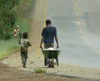 Leben in Afrika Stockbild