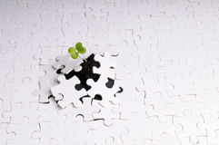 Leben als Puzzlespiel Stockfotos