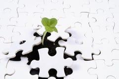 Leben als Puzzlespiel Stockbild