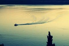 Leben auf Boot Stockfotografie