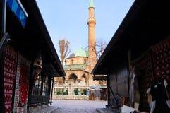 Leben auf der Straße des alten Bezirkes von Sarajevo, Bosnien Lizenzfreies Stockfoto