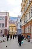 Leben auf der Straße von Sarajevo, Bosnien Stockfotos