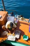 Leben auf einem Boot lizenzfreie stockbilder