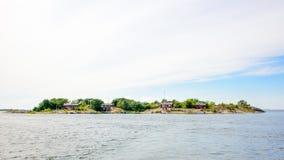 Leben auf einer lokalisierten Insel Lizenzfreie Stockbilder