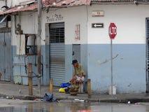 Leben in Casco Viejo, Panama Stockbilder