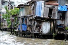 Leben in den Elendsvierteln von Bangkok Stockfotos