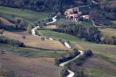 Leben in den Toskana-Hügeln Stockfoto