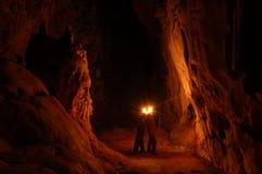 Leben in der Höhle lizenzfreies stockfoto