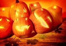 Leben der Halloween-Kürbise noch Lizenzfreie Stockfotografie