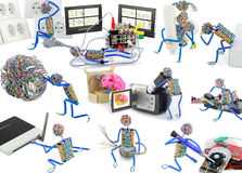Leben der Spielzeugleute stockbilder