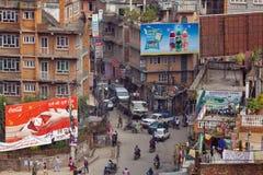 Leben in der Stadt in Kathmandu, Nepal lizenzfreies stockbild