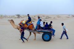 Leben in der Thar-Wüste Stockbild