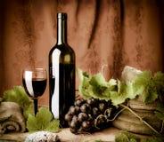 Leben des Rotweins noch Lizenzfreie Stockfotografie