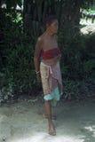 Leben in einem kleinen ländlichen Dorf in Indien Stockbild