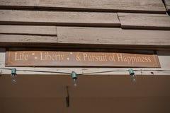 Leben-Freiheit u. Streben nach Glück lizenzfreie stockbilder