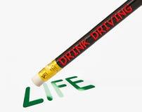 Leben gelöscht durch DAS GETRÄNK-FAHREN vektor abbildung