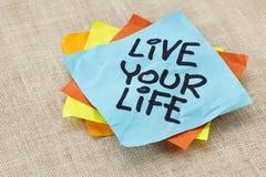 Leben Ihre Lebenanzeige Lizenzfreie Stockfotos