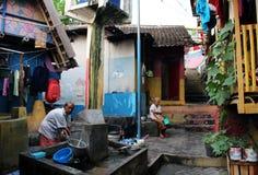 Leben im asiatischen favela Stockbild