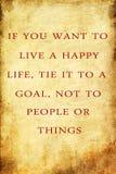 Leben-inspirierend Zitat Stockbilder