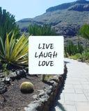 Leben Lachen-Liebe stockbild