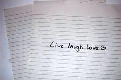 Leben Lachen-Liebe Stockbilder