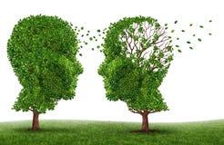 Leben mit einem Demenz-Patienten Lizenzfreies Stockbild
