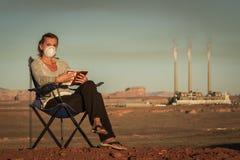 Leben mit Verschmutzung Stockbild