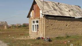 Leben in Rom-Regelung Ukraine-Transcarpathia stock video