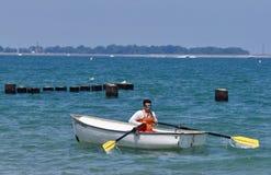 Leben-Schutz auf Michigansee Stockbilder