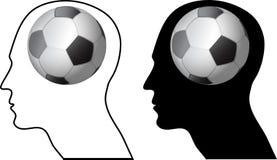 Leben Sie für Fußball Stockbild
