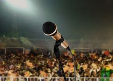 Leben Sie im Konzert Lizenzfreies Stockfoto